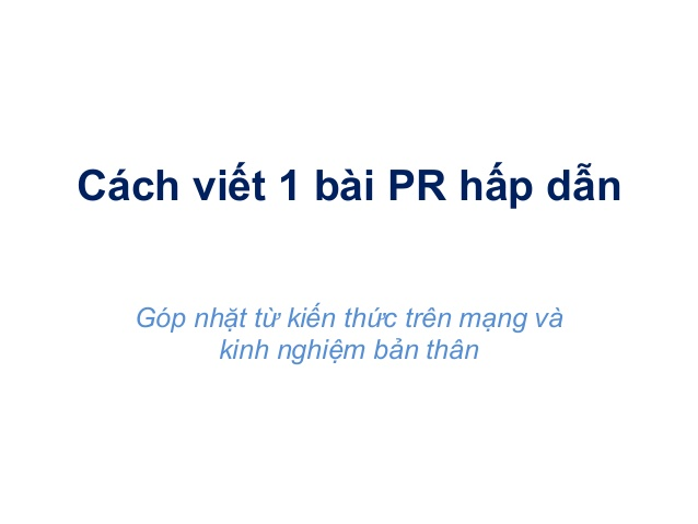 viết bài marketing