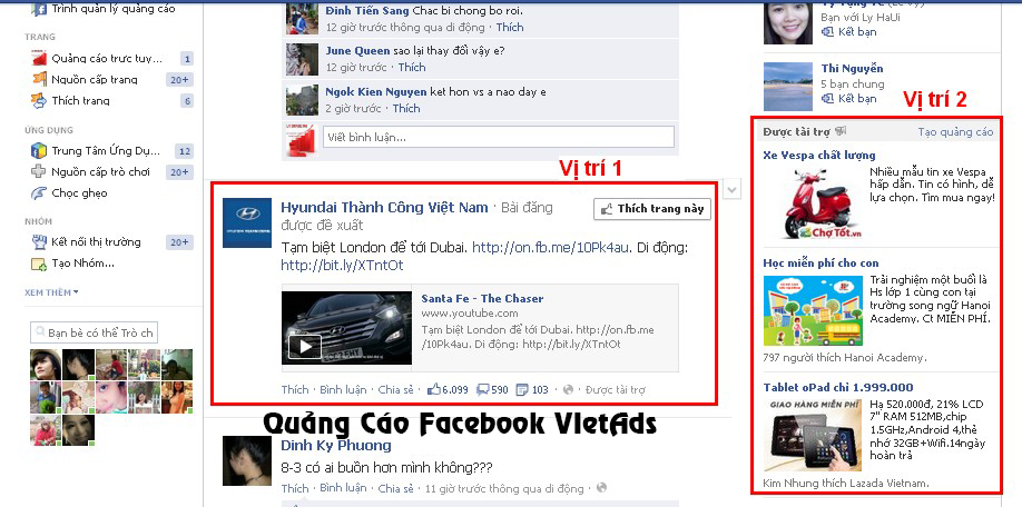 tác dụng quảng cáo facebook