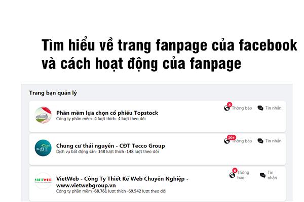 Tìm Hiểu Về Trang Fanpage Của Facebook Và Cách Hoạt Động của Fanpage