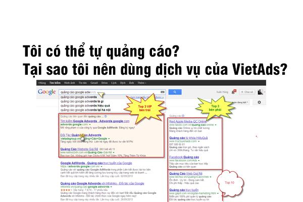 Tôi có thể tự quảng cáo? Tại sao tôi nên dùng dịch vụ của VietAds?