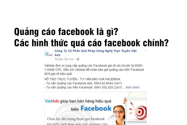 Quảng cáo Facebook là gì? Các hình thức quảng cáo Facebook?
