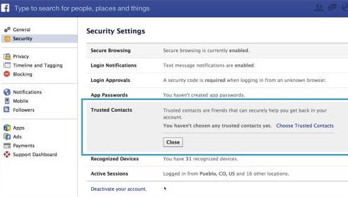 Làm sao để lấy lại mật khẩu Facebook?