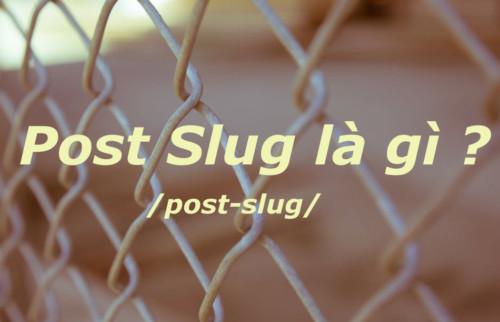 Post Slug Là Gì? Tìm Hiểu Về Post Slug Là Gì?