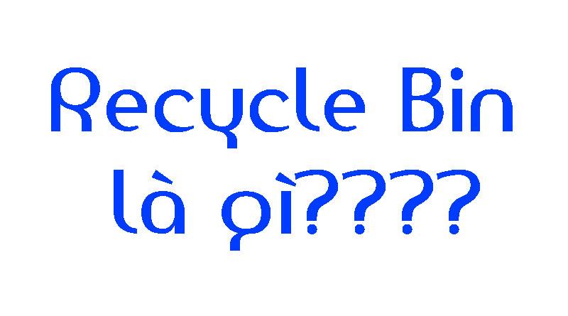 Recycle Bin Là Gì? Tìm Hiểu Về Recycle Bin Là Gì?