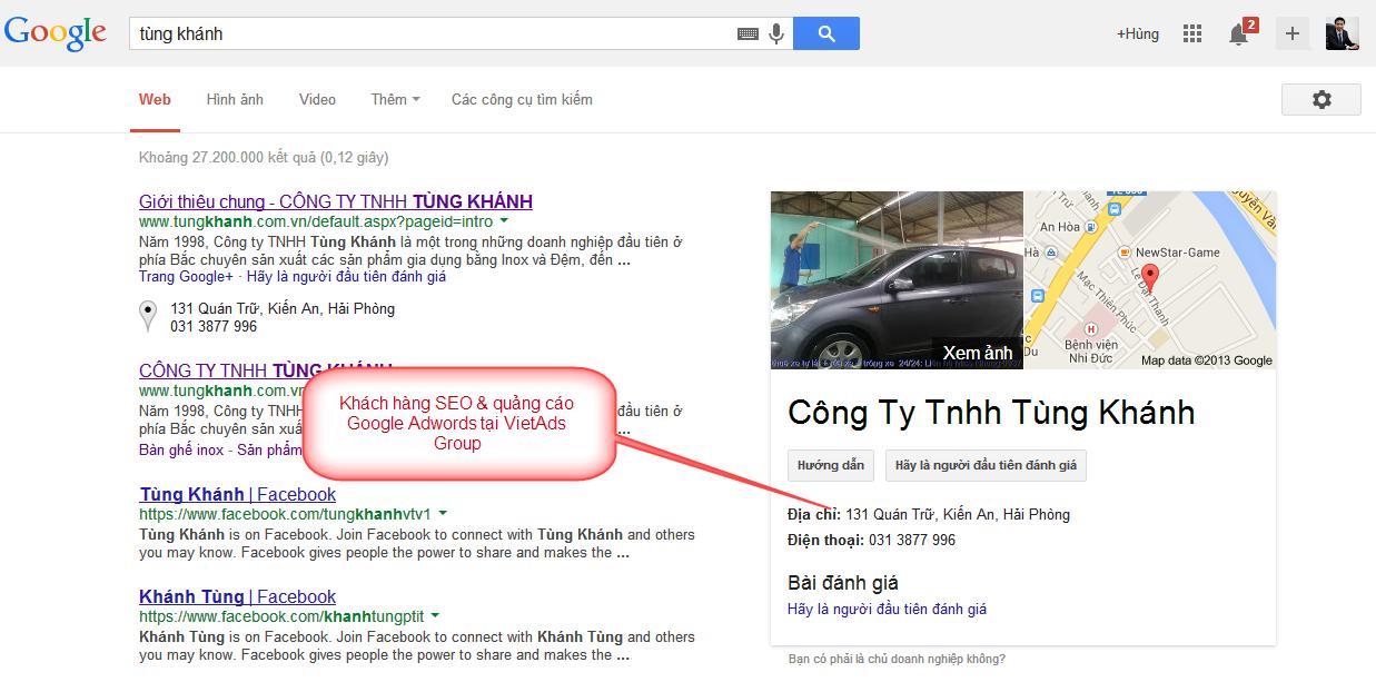 Tôi có thắc mắc về SEO Google địa điểm. VietAds giải thích giúp tôi?