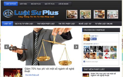 Thiết Kế Web Văn Phòng Pháp Luật Chuyên Nghiệp