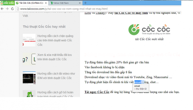 Tính năng của Cốc Cốc: dịch Anh - Việt nhanh khi lướt web hiệu quả?
