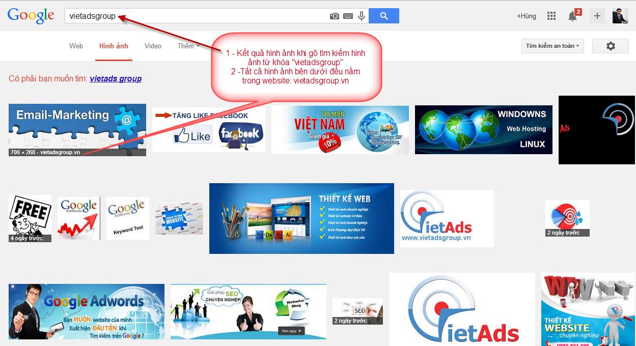 Tôi muốn hình ảnh trên website hiển thị khi tìm kiếm hình ảnh Google?
