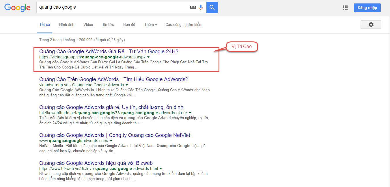 Vị Trí Xuất Hiện Từ Khóa Trong Quảng Cáo Google Adwords?